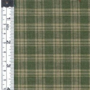 Textile Creations 208 Rustic Woven Fabric, Plaid Sage And Natural, 15 yd.