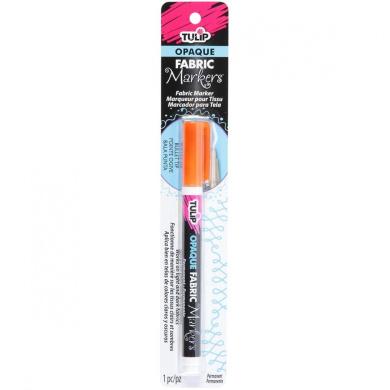 Tulip Opaque Bullet Tip Fabric Marker 1/Pkg-Orange