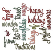 Sizzix Thinlits Dies 16/Pkg By Tim Holtz-Holiday Words #2/Script