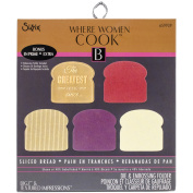 Sizzix Bigz Die W/Bonus Textured Impressions 14cm x 15cm -Sliced Bread By Where Women Cook