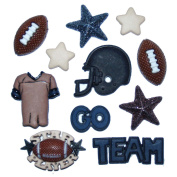 Dress It Up 420 Football Embellishment for Crafts