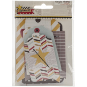 Say Cheese Ii Layered Stitched Tags 8/Pkg-2 Sizes