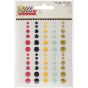 Say Cheese Ii Enamel Dots Embellishments 60/Pkg-5 Colours & 3 Sizes