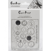 Crafty Individuals Unmounted Rubber Stamp 12cm x 18cm Pkg-Tick Tock Clock Faces