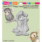 Stampendous House Mouse Cling Rubber Stamp 8.9cm x 10cm Sheet-Graduate