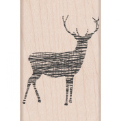 Hero Arts Mounted Rubber Stamps 5.1cm x 7.6cm -Cross-Hatch Reindeer