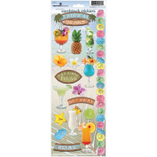 Paper House Cardstock Stickers 12cm x 33cm -Tropical Drinks