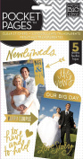 Me & My Big Ideas Pocket Pages Clear Stickers 5 Sheets/Pkg-Wedding Day