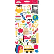 School Cardstock Stickers 15cm x 33cm -Icons
