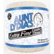 Aunt Lydia's X-Tra Fine Crochet Thread, Natural, 500 Yds. - 3 Pkgs