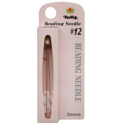 Tulip Beading Needles Size #12 47.5x0.35mm - 2 Pack