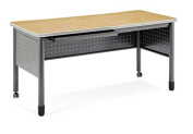 OFM Training Table Desk with Centre Drawer