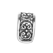 Sterling Silver Ornate Pinch Bail Large