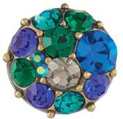 Ginger Snaps Petite Vintage Brooch AB Blue/Green Snap GP05-77