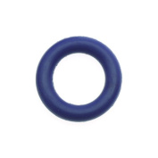 Rubber O-Ring Jump Ring Spacers 10mm Diameter - Cobalt Blue