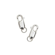 Sterling Silver Straight Lobster Clasps 11.5mm