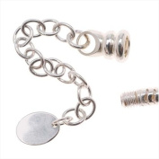 Sterling Silver Replacement Loop End W/ Extender For 2mm Screw Bracelet -Troll Beads
