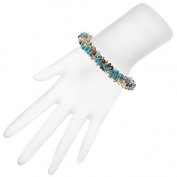 Beaded Kumihimo Bracelet - Blue Tones - Exclusive Beadaholique Jewellery Kit