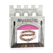 Weave Got Maille 3-Colour Byzantine Chain Maille Bracelet Kit, Peony