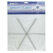 Beadsmith Metal Wire Snowflake Forms - Fun Craft Beading Project 23cm