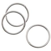 Sterling Silver Closed Jump Rings 8mm 21 Gauge
