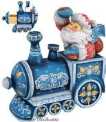 G. Debrekht Holiday Express Santa and Surprise Santa Box, 14cm