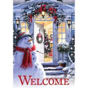 Carson Snowman Entrance Garden Flag 46002