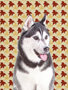Fall Leaves Alaskan Malamute Flag Garden Size KJ1203GF
