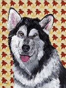 Alaskan Malamute Fall Leaves Flag Canvas House Size SC9495CHF