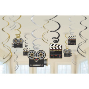 Movie Foil Swirl Hanging Decorations