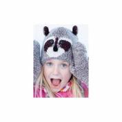 Kids Grey Raccoon Pilot Hat by Knitwits - A1469GK