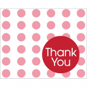 Classic Red Dots Thank You Notes