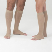 Medi Assure Open Toe Knee Highs - 20-30mmHg Petite Wide Beige X-Large Compression Knee High Stockings Wide Petite 153-XL-BEIGE