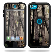 Mightyskins Protective Vinyl Skin Decal Cover for OtterBox Defender Apple iPod Touch 5G 5th Generation Case Tree Camo