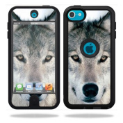 Mightyskins Protective Vinyl Skin Decal Cover for OtterBox Defender Apple iPod Touch 5G 5th Generation Case Wolf