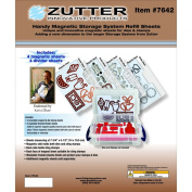 Handy Size Magnetic Die & Cling Stamp Storage Refill Sheets - NEW From Zutter!!!