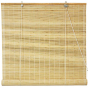 Oriental Furniture Bamboo Roll Up Blinds - Natural -