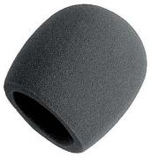 Single Foam Handheld Microphone Windscreen - Black