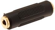 Seismic Audio - 0.3cm Female to 0.3cm Female Coupler (Black & Gold) - SAPT124