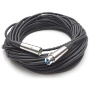 Seismic Audio 15m - 15m DMX Cable XLR 3 Pin 15m - DJ Lights - Lighting Black - SADMX50