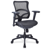 Lorell Full Mesh Mid-back Chair -