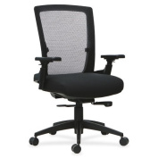 Lorell 3D Rotation Armrests Mid-back Chair -