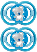 MAM Baby Item 99953400 Perfect 6-16 Silicone Dummy for Boys Pack of 2 BPA free
