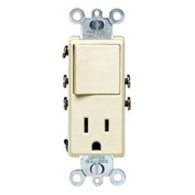 Decora Switch And Receptacle 15 A 120 V Ivory Csa Boxed