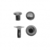 TierraCast Black Finish Brass Double Round Cap Compression Rivet Set 4mm - Pack Of 10
