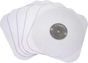100 30cm LP / Album White Paper Vinyl Record Sleeves / Protectors - Heavy 20# Weight Paper With Hole For Viewing Label -