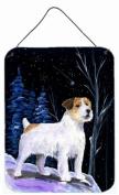 Starry Night Jack Russell Terrier Aluminium Metal Wall or Door Hanging Prints