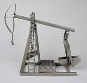 Metrotex Designs Decorative Oil Pump Jack Table Sculpture