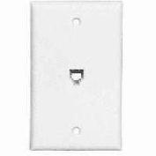 Cooper Wiring 3532-4W Flash Mint Phone Wall Jack - White