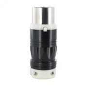 Leviton 3763C 50 Amp, 250 Volt DC/600 Volt AC, Non-NEMA, 2P, 3W, Locking Plug, Industrial Grade, Grounding - Black-White